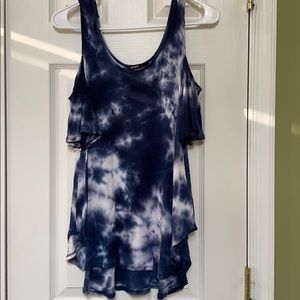 Tie dye off the shoulder tank top